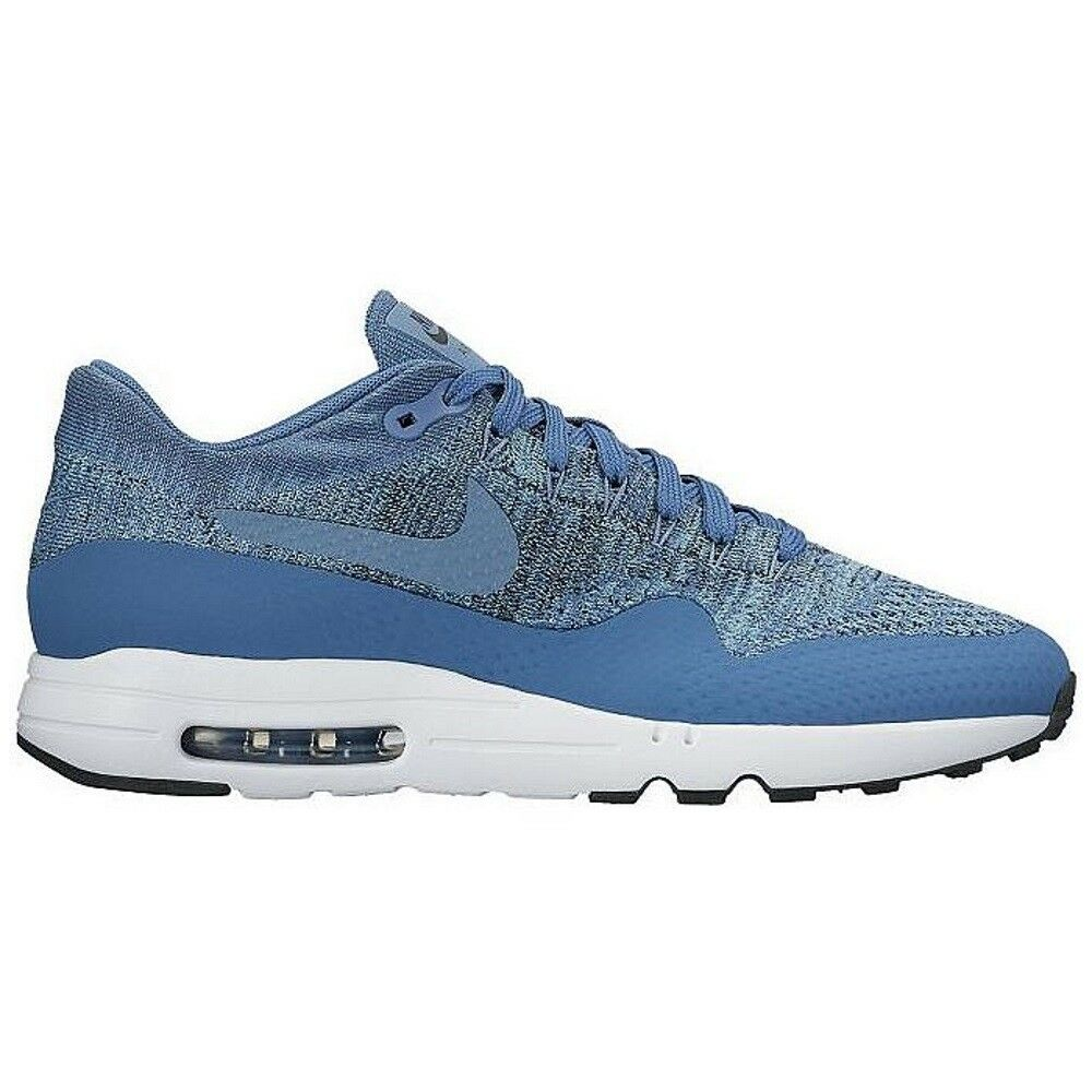 Nike Mens Air Max 1 Ultra 2.0 Flyknit Running shoes    bluee   Red    enjoy saving 30-50% off