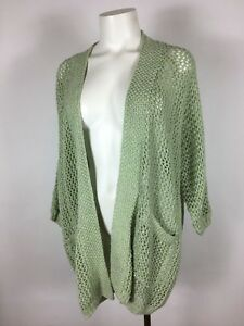 New Ecote Urban Outfitters Green Crocheted Oversized Cardigan