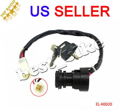 U.S.A. SELLER 002 YAMAHA WOLVERINE 350 2002-2009 IGNITION SWITCH AND KEYS