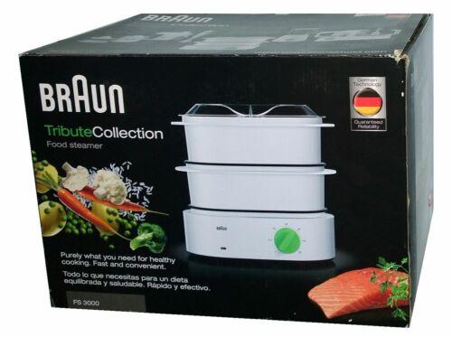 weiß//grün 850 W Braun Tribute Collection FS 3000 Dampfgarer