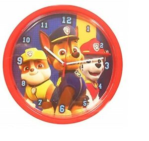 """OFFICIAL NEW 10"""" BLUE RED PAW PATROL CHASE MARSHALL CHILDRENS BEDROOM WALL CLOCK"""