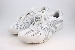 4400dafae6a7 WOMEN S SIZE 9 WHITE   SILVER LEATHER SKECHERS TENNIS SHOES SNEAKERS ...