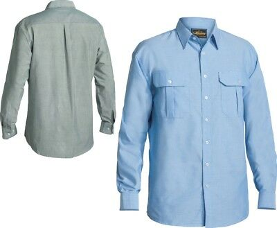 BNWT Mens Sz 38 M Bisley White Long Sleeve Insect Protection Business Work Shirt