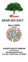 Dead Sea Salt 25 Lb Pure 100% Free Shipping Fine Grain