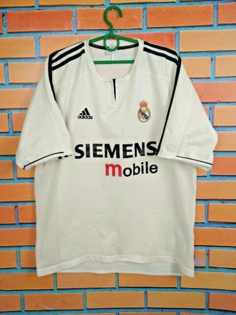 Real Madrid Jersey 2003 2004 Home L Shirt Football Soccer Camiseta Mens Adidas