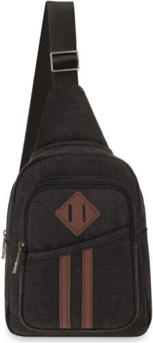 Leinen-Rucksack für Herren mit einem Träger Trekking Herren-Rucksack graphit