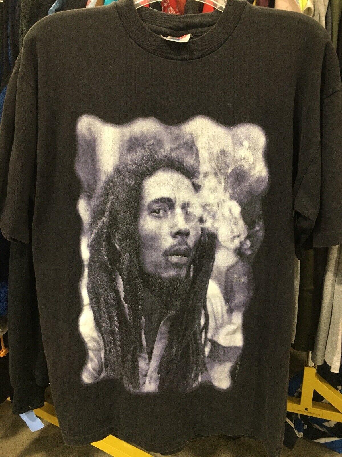 Vintage 1994 Bob Marley Memorial T-Shirt SUN ISLAND Vtg 90s Rare Rasta Smoke