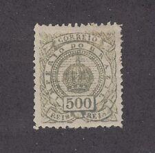 Brazil Sc 95 MLH. 1887 500r olive Crown, Signed
