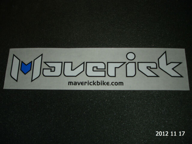 1 AUTHENTIC MAVERICK BIKES STICKER / DECAL / AUFKLEBER