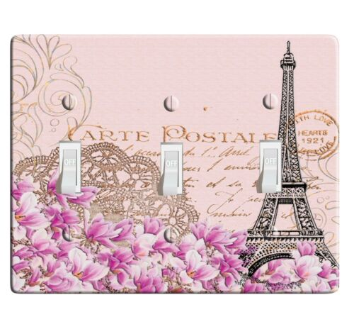 3D Printed Maxi Metal Paris Eiffel Tower Switch Plate Cover D0030