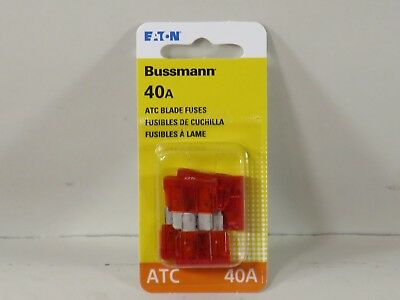Bussmann BP//ATC-1-RP ATC Automotive Blade Fuse 5 Pack 1 Amp Card
