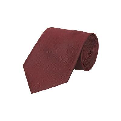 NEW Van Heusen 8cm Plain Polyester Tie Burgundy