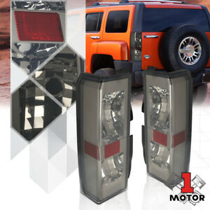 Chrome-Smoke-EURO-ALTEZZA-Tail-Light-Rear-Reverse-Brake-Lamp-for-06-10-Hummer-H3
