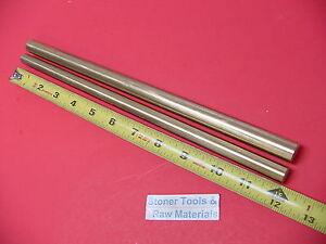 "1/2"" & 5/8"" C360 BRASS ROUND ROD 12"" long 1 Piece Each Solid Lathe Bar Stock"
