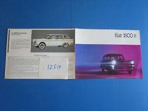 N°12517 / Fiat Berline Et Break 1800 B Dépliant En Français