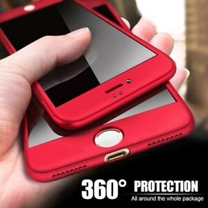 360-Full-Coverage-Protect-Hybrid-Case-Cover-For-iPhone-X-XS-Max-XR-6-7-8-Plus