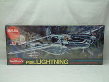 "Guillow's Flying Model Kit P-38 Lightning 40"" Wingspan NEW-FACTORY SEALED #2001"