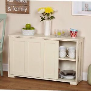 Image Is Loading China Cabinet Pantry Hutch Sliding Door Stackable Storage