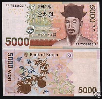 KOREA SOUTH 1000 Won P47 1983 ACADEMY YI HWANG UNC KOREAN CURRENCY MONEY NOTE