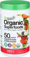 Orgain Organic Superfoods Berry 0.62 Lb Fruit Vegetable Green Mix Drink Juice