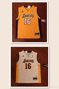 4a0f94312 Pau Gasol Los Angeles Lakers Youth Adidas Rev 30 Replica Jersey New ...