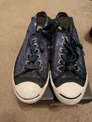 Converse navy Silver Sequins Sneakers 8 Preowned