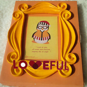 Image Is Loading New Friends Yellow Peephole Frame As Seen On
