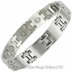 new mens magnetic stainless steel magnets bracelet ndfeb neodymium therapy 5055527748916 ebay. Black Bedroom Furniture Sets. Home Design Ideas