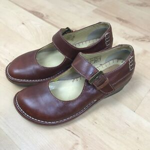 Dr-Martens-Womens-11983-Brown-Leather-Mary-Jane-Shoes-UK-4-VGC
