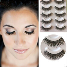 5 Pares Natural Pestañas Postizas Hechas A Mano Extensiones Maquillaje Eyelashes