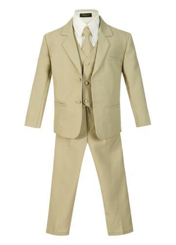 Slim Fit Toddler Boys Formal suit 5 pcs set coat,vest,pant,shirt,clip tie