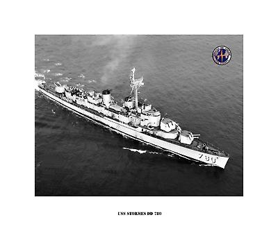 US Naval Destroyer USS Plunkett DD 431 USN Navy Ship Print