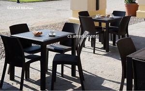Tavoli Da Esterno Per Pub : Tavolo da esterno giardino poli rattan bar ristorante pub