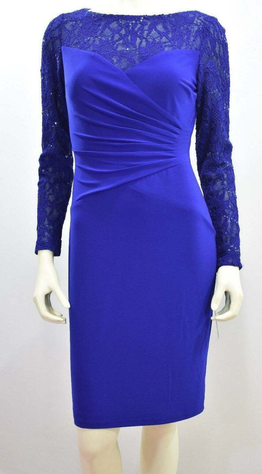 RALPH LAUREN LACE SEQUINNED SHEATH DRESS SZ 4 NEW WITH TAG