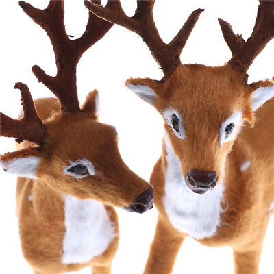 Christmas Simulation Plush Reindeer Xmas Elk Plush Toy New Year  Decor/_TI