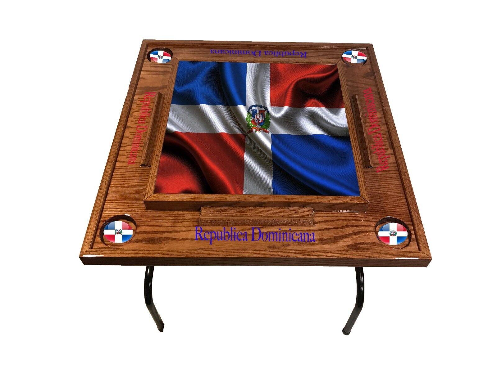 Dominican Republic w full Flag Domino Table -rosso  Mahogany  godendo i tuoi acquisti