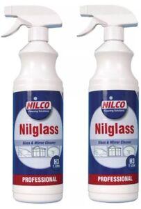 2-x-1-Litre-Nilco-Professional-Nilglass-Glass-Mirror-Cleaner-Trigger-Spray-1L-2L