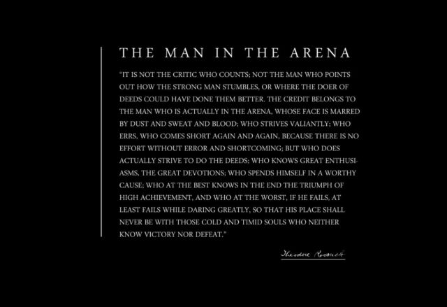 Theodore Teddy Roosevelt 13x19 Poster With The Man in The Arena