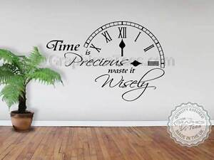 Image Is Loading Time Precious Inspirational Wall Sticker Quote Motivational