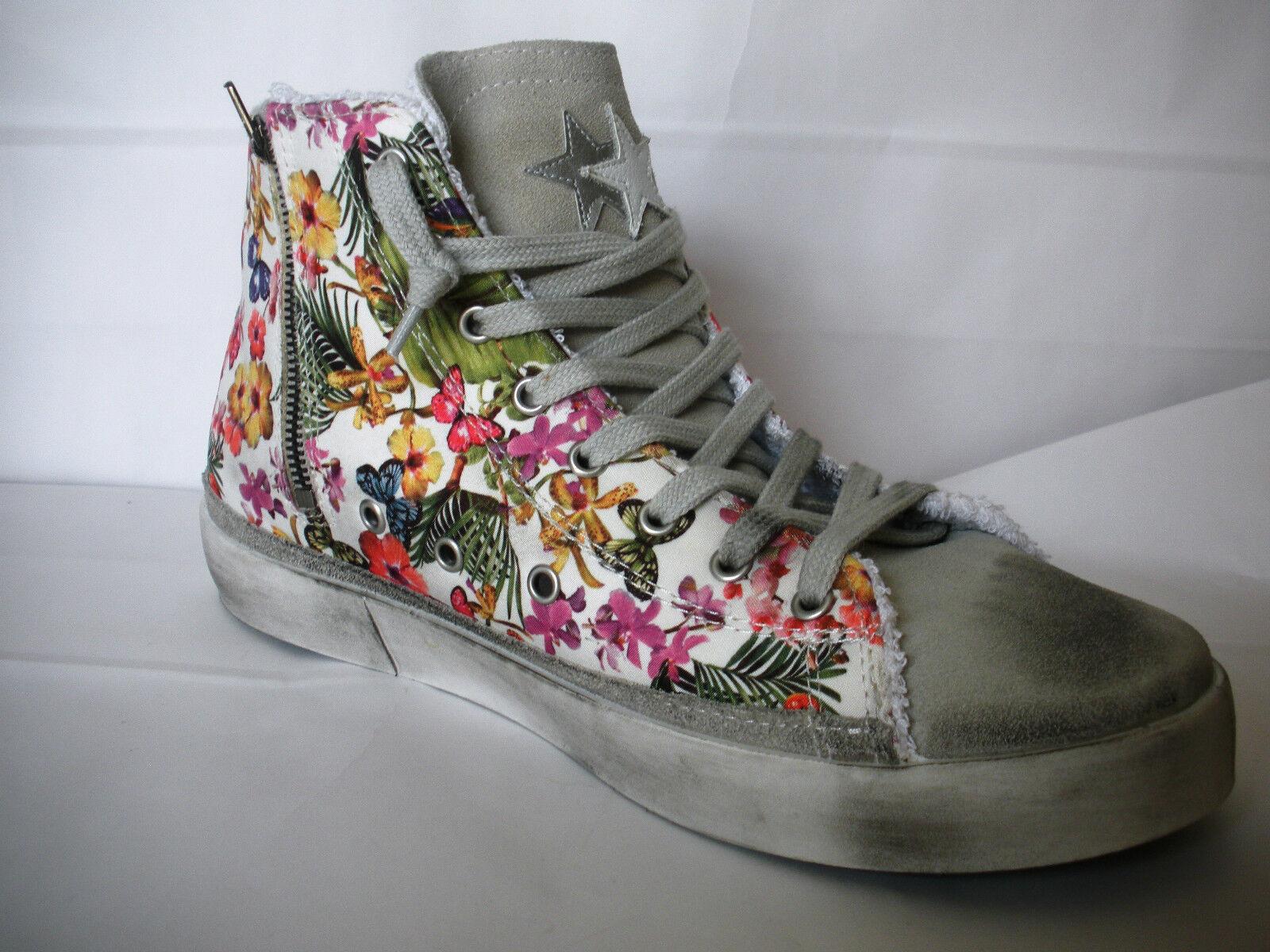 Zapatos promocionales para hombres y mujeres 2STAR SCARPA DONNA SNEAKER ALTA FIORI SCONTO 60% ULTIMO N° 41