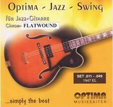 Optima/Maxima Chrome Strings 11-49 Flatwound