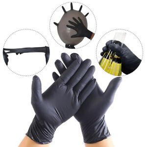 100Pcs-Comfortable-Rubber-Disposable-Mechanic-Nitrile-Gloves-Black-Medical-Exam