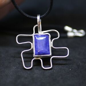 Large-Natural-Blue-Lapis-Pendant-on-Black-Cord-in-Solid-Sterling-Silver-Bezel