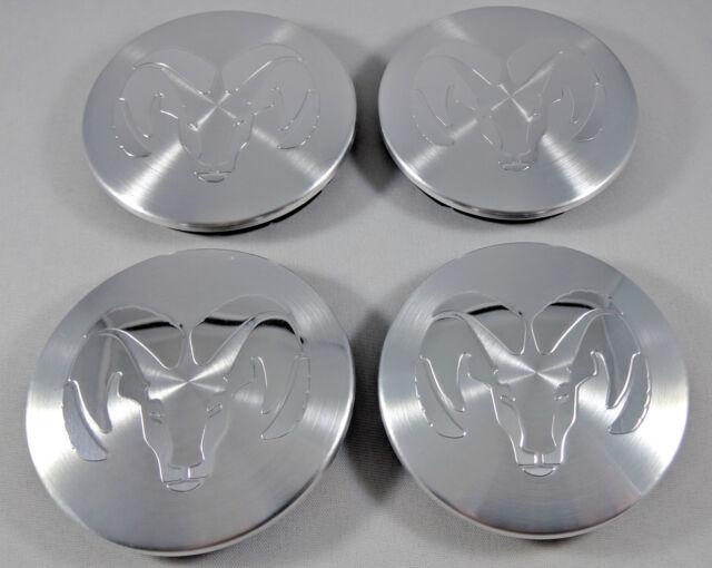 New Set of 4x DODGE Center Wheel Hub Caps 63MM Machined Silver RAM 1500 DAKOTA