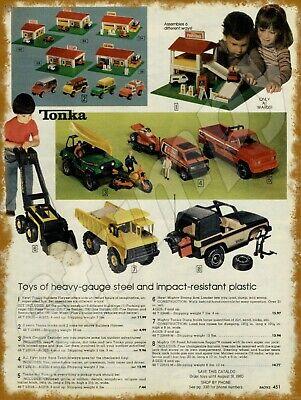 1966 Tonka Nylint Crane Advertising Baked Metal Repro Sign 9 x 12 60119