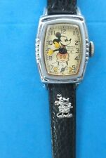 1938 Vintage Ingersoll Mickey Mouse Character Watch- Works Great