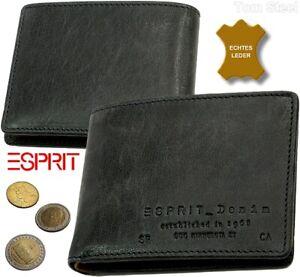 ESPRIT-Herren-Brieftasche-Portemonnaie-Geldbeutel-Geldboerse-two-color-Leder