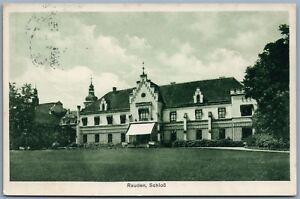 RUDY-POLAND-RAUDEN-CASTLE-VINTAGE-1936-POSTCARD-w-STAMP