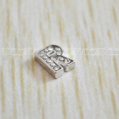 NEW 1p Initial Letter R Floating Locket Charms For Living Memory Floating Locket