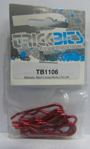 8 TB1106 Trickbits Car Spare Parts Metallic Red Large Body Clips Brand New UK